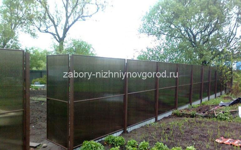 изготовление заборов из поликарбоната в Нижнем Новгороде