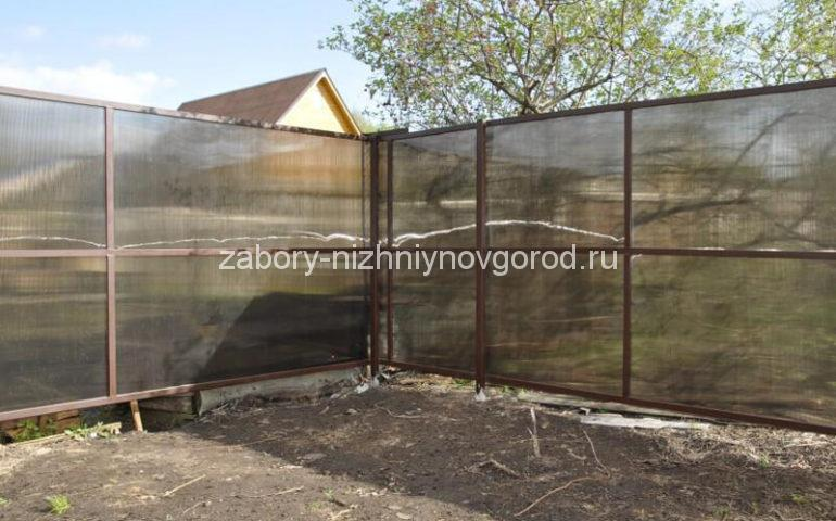 забор из поликарбоната в Нижнем Новгороде