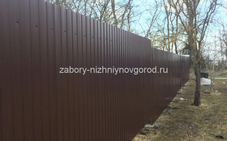 забор из профлиста в Нижнем Новгороде